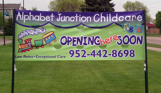 CD Products of Waconia creates banners to promote your business or event.