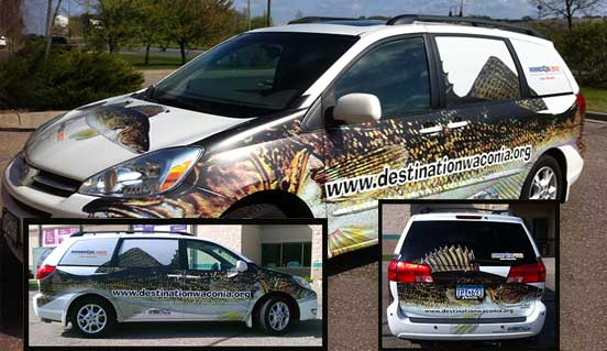 CD Products in Waconia creates stunning vehicle wraps and graphics.